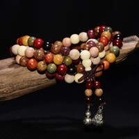 Variety of Sandalwood Tibetan Buddhist 108 Prayer Bead Mala Rosary