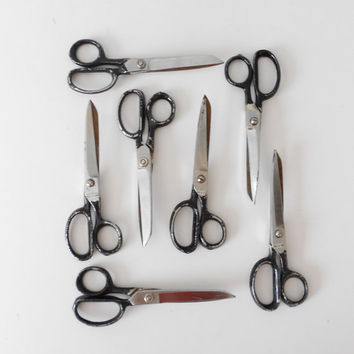 Old 1960s Industrial School Office Scissors--Single