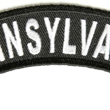 Pennsylvania Rocker Patch Small Embroidered Motorcycle NEW Biker Vest Patch