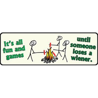 "10.5"" x 3.5"" Tin Sign It's All Fun And Games"