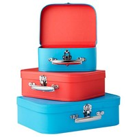 Bon Voyage Suitcase (Blue/Red) in Tabletop Storage | The Land of Nod