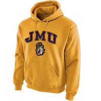James Madison Dukes Midsize Arch Pullover Hoodie - Gold