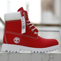Timberland Woman Men Leather Lace-Up Waterproof Boots Shoes