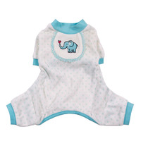 Elephant Dog Pajamas - Blue at BaxterBoo