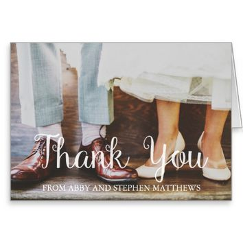 Wedding Thank You - Add Your Photo Greeting Card