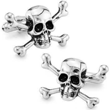 High quality metal Skull Cufflinks