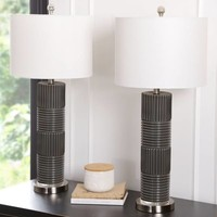 Abbyson Cleo Glass Table Lamp (Set of 2)   Overstock.com Shopping - The Best Deals on Lamp Sets