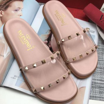 Valentino Women Fashion Simple Casual Slipper Shoes