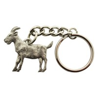 Goat Keychain ~ Antiqued Pewter ~ Keychain