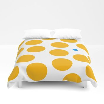 yellow dots 077 Duvet Cover by netzauge