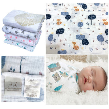 Aden Anais Multifunctional Envelopes For Newborns Receiving Blankets Bedding Infant Cotton Swaddle Towel Muslin Baby Blanket