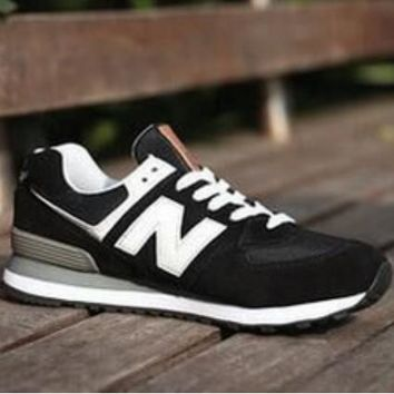 New Balance Couple Fashion Stylish High Quality Sports Shoes Running Shoes Black