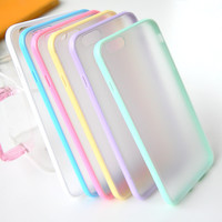 Slim Colorful   Clear Case For iphone 6 4.7'' Phone Back Thin Matte Hard Cover