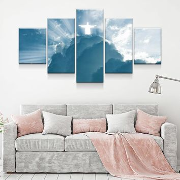 Jesus Is Coming 5-Piece Wall Art Canvas