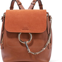 Chloé - Faye medium leather and suede backpack