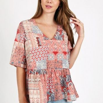 Bailey Handkerchief Print Blouse
