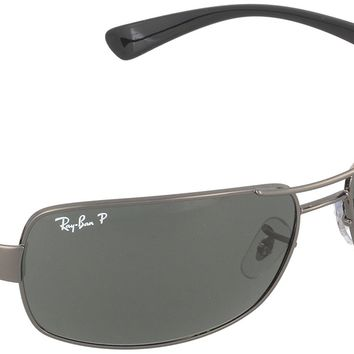 Ray-Ban RB3379 Double Bridge Wrap Sunglasses