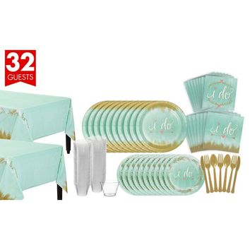 Mint to Be Bridal Shower Tableware Kit for 32 Guests | Party City