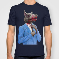 The Wolf of Wall Street T-shirt by AWolf Illustrations