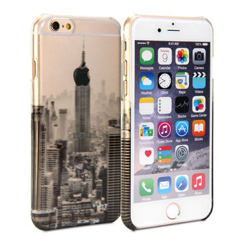 Snap Cover Crystal (New York Scenery Pattern) for iPhone 6