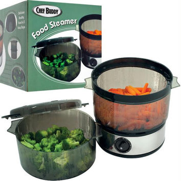 Chef Buddy? Food Steamer includes Timer and two containers