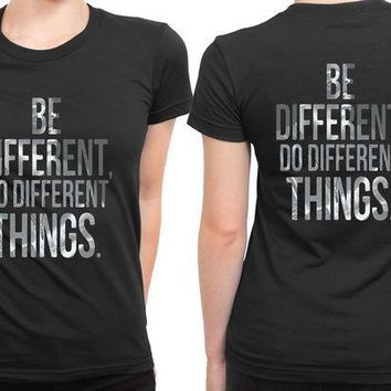 ESBP7V Kendrick Lamar Quote Be Different 2 Sided Womens T Shirt