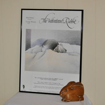 Vintage Movie Poster of The Velveteen Rabbit. Framed Art  by TheVelvetBranch