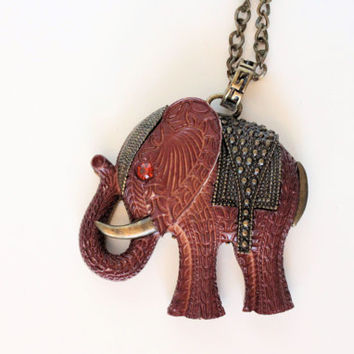 African elephant necklace. Africa roars. Ethnic accessories. Necklaces statement.