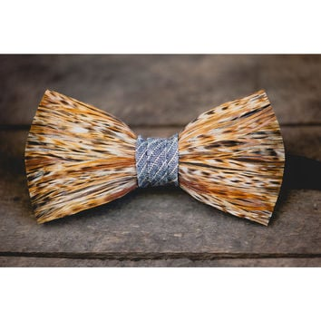 Nectar Rooster Feather Bow Tie