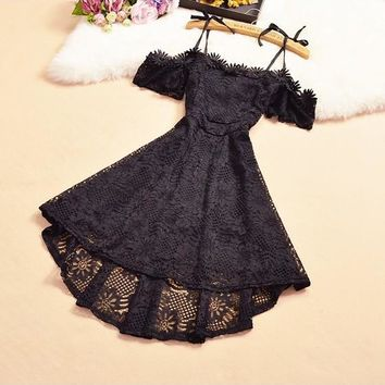 Black Flowers Cut Out Swallowtail Short Sleeve Mini Dress