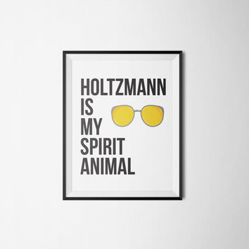 Holtzmann Is My Spirit Animal - Ghostbusters Art Print - Printable Art - Printable Wall Art - Instant Download - Home Decor - Wall Décor