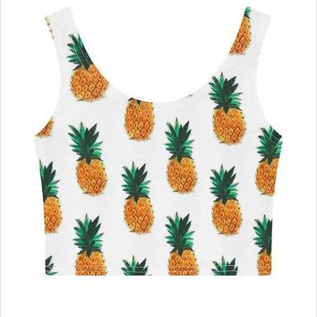 LMFON1O Day First Pineapple Tank Top Vest