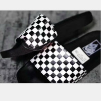 VANS Plaid Casual Fashion Women Sandal Slipper Shoes