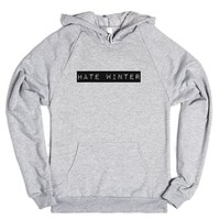 Hate Winter-Unisex Heather Grey Hoodie