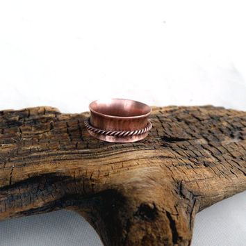 Copper Spinner Ring, Spinner Ring, Thumb Ring, Women's Copper Ring, Women's Spinner Ring
