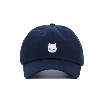Embroidered Kitty Dad Hat - Baseball Cap / Baseball Hat
