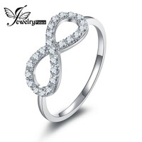 Infinity Statement Ring With Crystal
