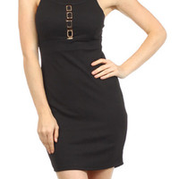 Flirty Bodycon Dress - Black