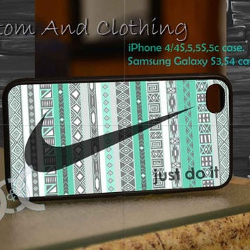 just do it nike iPhone case, iPhone 4/4S, iPhone 5/5S, iPhone 5c, Galaxy S3 i9300, S4 i9500, Design By Custom And Clothing