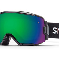 Smith Vice Black Goggles, Green Sol-X Mirror Lenses