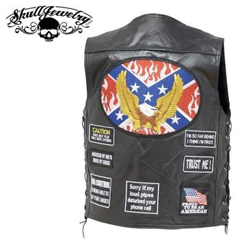 Rebel Flag Vest (Medium-3X)