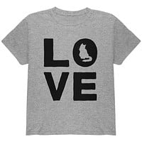 Cat Love Youth T Shirt