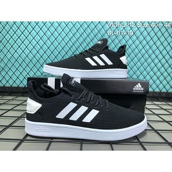 HCXX A027 Adidas Stan Smith Breathable Mesh Causal Running Shoes Black White