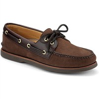 Men's Gold Cup A/O 2 Eye Boat Shoe in Brown/Buc Brown by Sperry