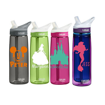 Disney Monogram Personalized CamelBak 0.75 L Eddy or 0.6 L Insulated Personalized Monogram States Water Bottle Sports bottles Name water