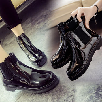 On Sale Hot Deal Flat Dr. Martens Korean England Style Boots [9432935178]