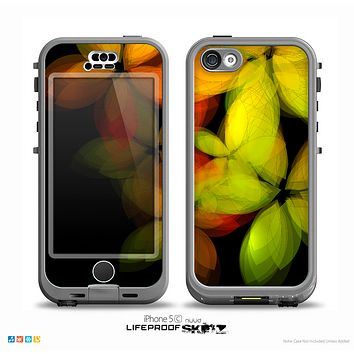 The Neon Blurry Translucent Flowers Skin for the iPhone 5c nüüd LifeProof Case