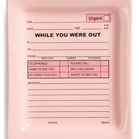 Fishs Eddy 'While You Were Out' Tray - Pink