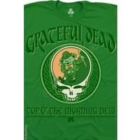 Grateful Dead St. Patrick's Day Top of the Morning Dew    Shirt  2XL  Plus Size   NEW