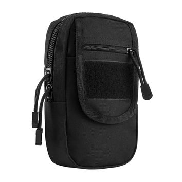Large Utility Pouch with PALS Straps & Metal Snap for Easy Attachment - Black